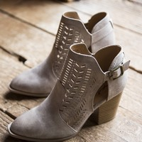 Prenton Perforated Bootie, Taupe
