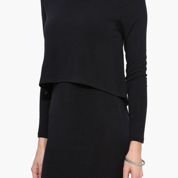 Layer Me Black Long Sleeve Dress