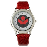 Canadian Maple Leaf Wrist Watch