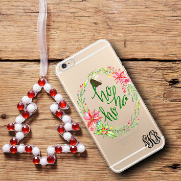 Ho Ho Ho Christmas Iphone 6 case clear, Iphone 6 Plus case clear, Inexpensive Christmas stocking stuffer for women and co-workers (1604)