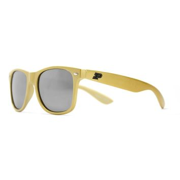 Purdue Throwback Sunglasses in Gold by Society43
