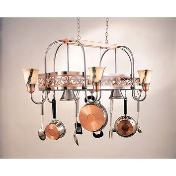 Hi-Lite H-12Y-D-11/24-WHT-ODYSEE Eight-Light Pot Rack