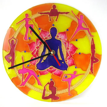 The Yoga Wall Clock Home Decor
