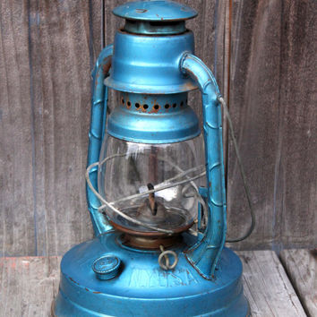 Vintage Blue Little Wizard Dietz Lantern
