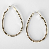 Women's Large Oval Glitz Earring in Gold by Daytrip.