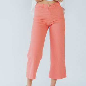 Maeve Wide Legged Pants (Salmon)