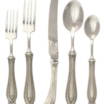 Vagabond House | Curved Lily Pewter Flatware