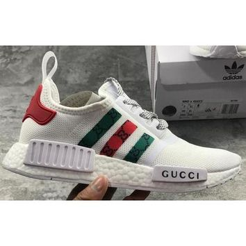 ADIDAS x GUCCI NMD Women Men Trending Fashion Casual Breathable Running Sneakers Sport Shoes Black F