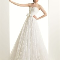 White A-line Sweetheart Lace Tulle 2014 Wedding Dress IWG0199 -Shop offer 2013 wedding dresses,prom dresses,party dresses for girls on sale. #Category#