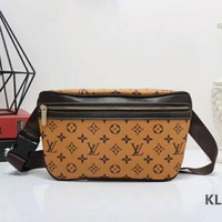 LV Leather Handbag Pockets Bag Crossbody Satchel Shoulder Bag Brown I-LLBPFSH