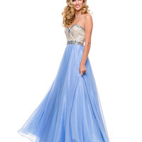 Periwinkle Strapless Sweetheart Gown