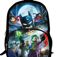 16-inch Children Backpacks School Batman Bags For Boys Casual Kids School Bags For Teenagers Aged 7-13 Primary Scholar Backpack