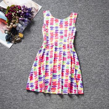 Cute Easter Costume for 4-10 Y Big Girls Summer Girl Children Sleeveless Vest Dress Print Bunny Egg Sundress Baby Girl Clothes