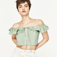 FRILLED CROP TOP - NEW IN-WOMAN | ZARA United States