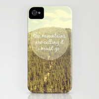 The Mountains are Calling iPhone Case by Jillian Audrey | Society6