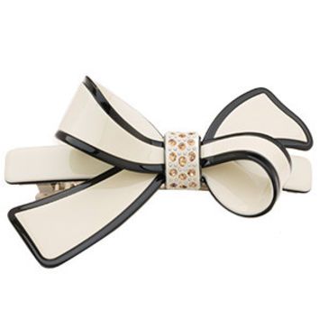 2016 New Chaplet High Quality Classic Bow Hair Accessories Barrettes Women Rhinestone Hair Clips Ladies Top Clips Free Shipping
