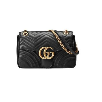 Gucci women's beautiful leather shoulder bag F