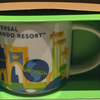 Starbucks Universal Studios Orlando You Are Here Collection Ceramic Mug New with Box
