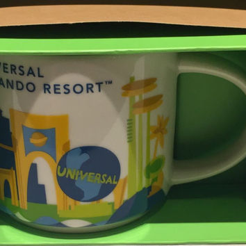 Starbucks You Are Here Collection Ceramic Mug Universal Studios Orlando New with Box
