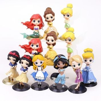Q Posket Characters Princesses Toys Dolls Snow White The Little Mermaid Rapunzel Alice in Wonderland Jasmine Belle Cinderella