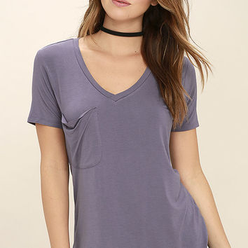 Selene Dusty Purple Tee