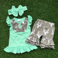 In Stock-  deer short set (Various colors )
