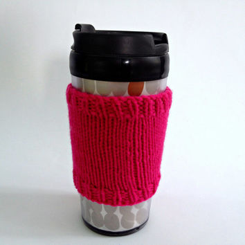 Coffee cozies, coffee cup sleeve, knit coffee cozy, knitted coffee cozy, coffee accessories, pink coffee cup, coffee sleeve, coffee cozy