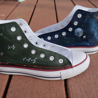 Custom Painted Science Galaxy Shoes