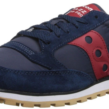 Saucony Originals Men's Jazz Low Pro Sneaker Navy/Red 5 D(M) US
