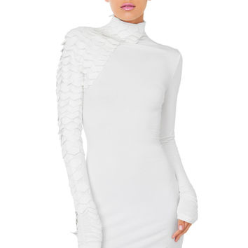 Gracia Slither White Scale Mini Dress