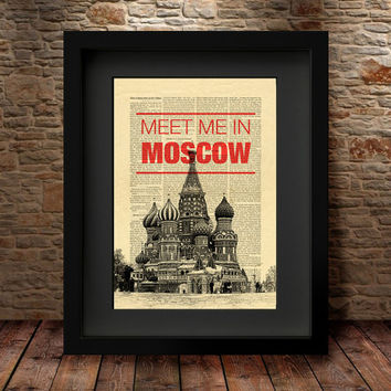 Moscow Art Print, Wall Art, Art print, St Basils Cathedral, Red square, modern poster, City print, Home Decor,Travel, Moscow print- 32