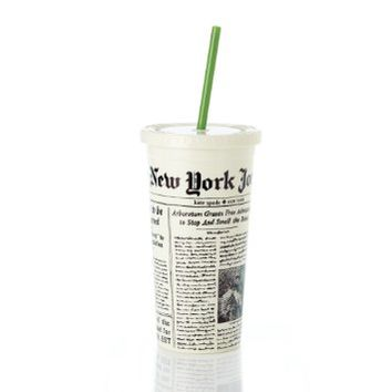 kate spade new york Insulated Tumbler,Newspaper