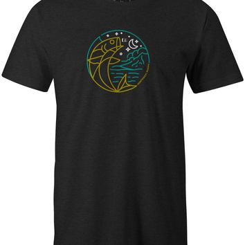 Moon Fish T-Shirt Charcoal Heather