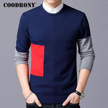 Sweater Men Knitted Cotton Sweaters New Winter Slim Fit Pull Home Fashion O-Neck Cashmere Pullover Men