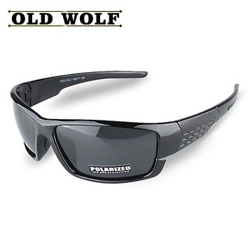 OLD WOLF New Arrival Promotion Polarized Sunglasses Men Brand Designer Men Goggles Glasses High Quality Lower Price Eyewear