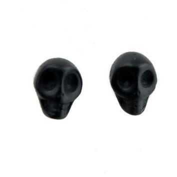 Black Sugar Skull Earrings Day of the Dead Cosplay
