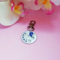 Hand stamped dog tag - pet tag - hand stamped dog jewelry