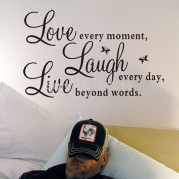 Factory Price Live Love Laugh Letters Quotes Wall Stickers