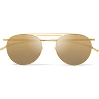 Maison Margiela - + Mykita Round-Frame Mirrored Metal Sunglasses | MR PORTER