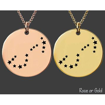 Scorpio Constellation Necklace | Rose Gold or Gold Zodiac Necklace