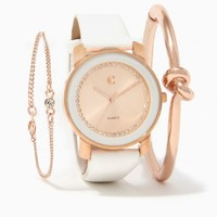 Time Out Watch & Knot Bangle Set | Charming Charlie