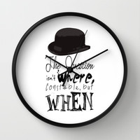 Community Inspector Spacetime Quote Wall Clock by Catherine | Society6