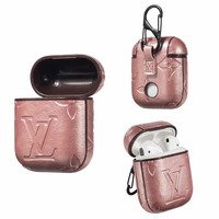 LV EMBOSS AIRPODS CASE - PINK