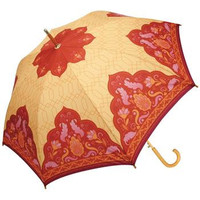 Red/Orange Cupola Cane Umbrella