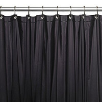 Park Avenue Deluxe Collection Park Avenue Deluxe Collection Premium 4 Gauge Vinyl Shower Curtain Liner w/ Weighted Magnets and Metal Grommets in Black