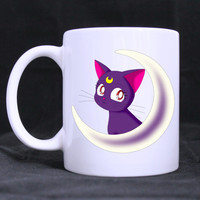 Luna Sailor Moon Cat Ceramic Mug 11 oz