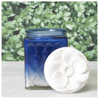 Conservatories Luminarie Candle in Dip Dyed Glass Jar 14.6oz - Dogwood, Field Poppy, Jasmine Vine or Noble Carnation