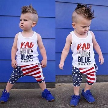 Rad, White & Blue Outfit - 2 pc set