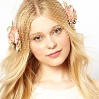 Her Curious Nature Floral Veil Head Band at asos.com