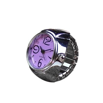 Fashion Stylish Finger Watch Ring style watches Creative Steel Round Elastic Quartz Finger Ring Watch Lady Girl Christmas gift